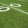 Stock Photo: AmericFootball Field Yard Fifty Yard Line