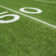 American Football Field Yard Fifty Yard Line — Stock Photo