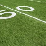 American Football Field Yard Fifty Yard Line — Stock Photo