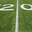American Football Twenty Yard Line — Stock Photo