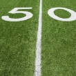 Stok fotoğraf: AmericFootball Field Fifty Yard Line