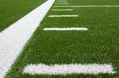 American Football Field Yard Lines — Stock Photo