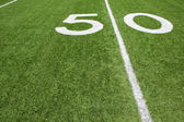 American Football Fifty Yard Line — Stock Photo