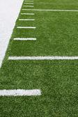 Amerikaanse voetbal veld werf lijnen — Stockfoto