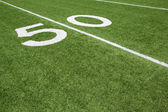 American Football Field Yard Fifty Yard Line — Стоковое фото