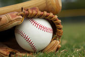 Baseball in a Glove — Foto de Stock