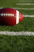 American Football with Yard Lines — Stock Photo