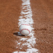 Baseball on the Chalk Line — Stock Photo #31860173