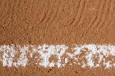 Honkbal infield krijt lijn — Stockfoto