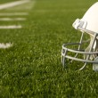 Stock Photo: American Football Helmet on Field