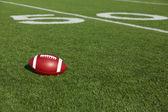 Futbol amerykański w pobliżu pięćdziesiąt — Zdjęcie stockowe