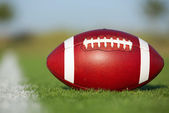 американский футбол на поле — Стоковое фото
