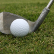 Golf Ball and Wedge — Stockfoto