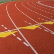 Curve of a Red Running Track — Stockfoto