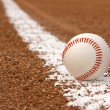 Baseball on the Line — Stock Photo