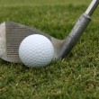 Golf Ball and Wedge — Foto de Stock
