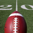 Stock Photo: Football above Twenty Yard Line