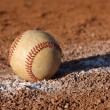 Baseball on the Chalk Line — Foto Stock