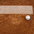 Baseball near the Pitchers Mound — Stock Photo