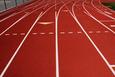 Red Running Track Lanes — Stock Photo