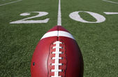 Football above the Twenty Yard Line — Stock Photo