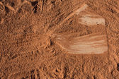 Baseball Field Home Plate — Stock Photo