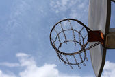 Outdoor Basketball Hoop — 图库照片