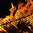 Burning Flame of a Barbecue — Stock Photo #35890065