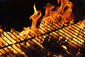 Burning Flame of a Barbecue — Stock Photo