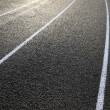 Curve of the Running Track — Stock Photo