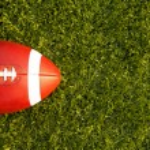 American Football teed up for kickoff — Stock Photo #38268821