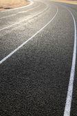 Kurve von der Laufstrecke — Stockfoto