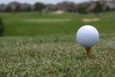 Golf topu tamamlayamazsa — Stok fotoğraf