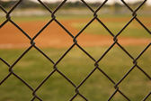 Baseball Field viewed through a Fence — Stock Photo