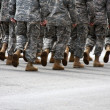 Stock Photo: Marching soldiers