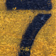 Stock Photo: Number Seven on Painted Asphalt
