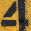 Stock Photo: Number Four on Painted Asphalt
