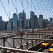 Taxis and Traffic Across Brooklyn Bridge — Stock Photo #38317731