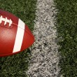 Stock Photo: Football near yard line