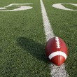 Stock Photo: AmericFootball with Fifty Yard Line Beyond