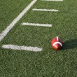 Stock Photo: AmericFootball near yard lines