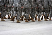 Marching soldiers — Stock Photo