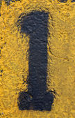 Number One on Painted Asphalt — Stock Photo