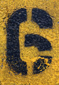 Number Six on Painted Asphalt — Stock Photo