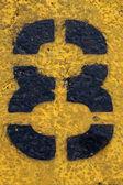 Number Eight on Painted Asphalt — Stock Photo