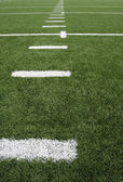 American Football Field Yard Lines — Stock Photo