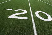 American Football Field Twenty Yard Line — Stock Photo