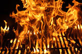 Burning Flames or Fire of a barbecue — Foto Stock