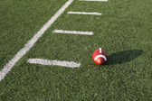 American Football near the yard lines — Stock Photo