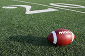Football along the Twenty Yard Line — Stock Photo